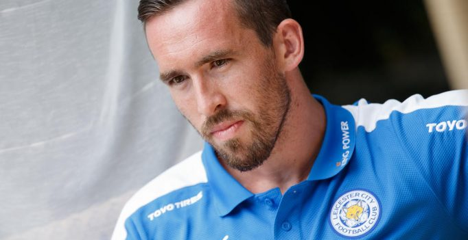 BAD RADKERSBURG,AUSTRIA,15.JUL.15 - SOCCER - IFCS, Premier League, Leicester City FC, training camp, press conference with Christian Fuchs. Image shows Christian Fuchs (Leicester). Photo: GEPA pictures/ Christian Walgram