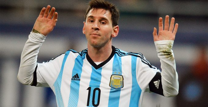 Lionel Messi of Argentina reacts during the International friendly football match Romania vs Argentina in Bucharest, Romania on March 5, 2014. AFP PHOTO / DANIEL MIHAILESCU        (Photo credit should read DANIEL MIHAILESCU/AFP/Getty Images)